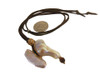 Throwaway Elegance and a Little Bit of WOW!!!  Jumbo Pearl-14 on dark brown cord.