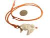 Throwaway Elegance and a Little Bit of WOW!!!  Jumbo Pearl-16 on orange cord with carnelian