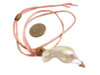 Throwaway Elegance and a Little Bit of WOW!!!  Jumbo Pearl-25 on pink cord with rose quartz
