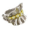 Ruffle Ring- Sterling with Plate options