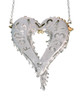 Forgiveness Heart-Sterling, with solid 18K dots of diamonds