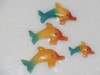 Carved Rainbow Stone- Dolphin Sweethearts - Mexico