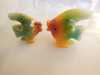 Carved Rainbow Stone- Angel Fish Couple - Mexico