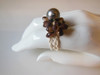 Seashell Ring with Tahitian black pearl - from the South Pacific