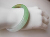 Jade Bracelet- Green solid bangle for very small wrist