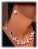 Metal petals. 3 Petal Necklace-14K