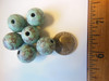 Turquise-looking lightweight beads with flower