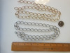 Open Link Chain- Silver colored metal