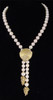 Bowl of Diamonds Necklace or pearl enhancer-large-18K gold