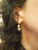 Illusion Piercing Arrow Earring-Sterling Silver, plate options