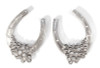 Lucky You horseshoe earrings in silver and diamonds,  All my work can be made in any metal and/ or stones to suit your style and budget.