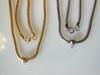 Snake Chains with sliding pendant holder- gold plate