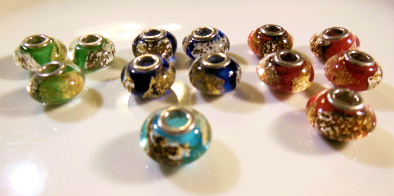 rice hot glass keychains premade murano beads assorted caps jewelry