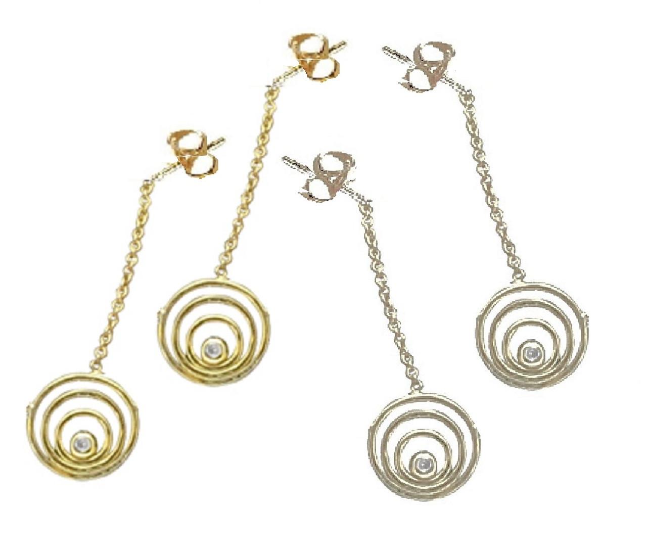 Karma Drop Earrings-14K gold with diamonds