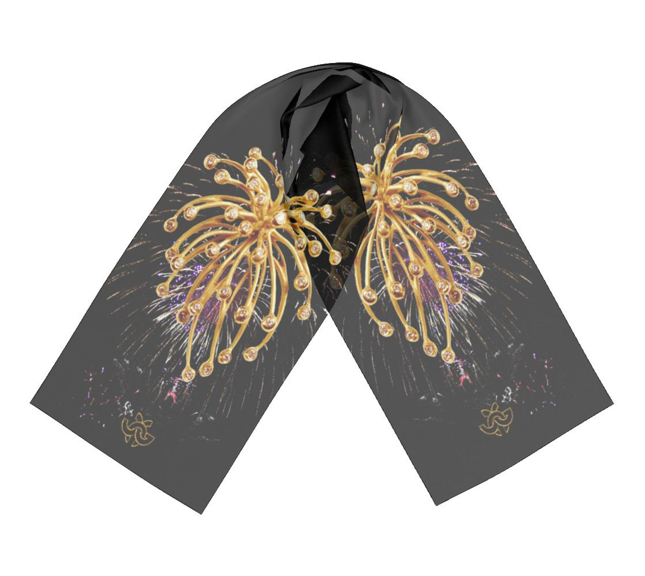 Elegant Inspirational jewelry on Silk scarves. American Made.