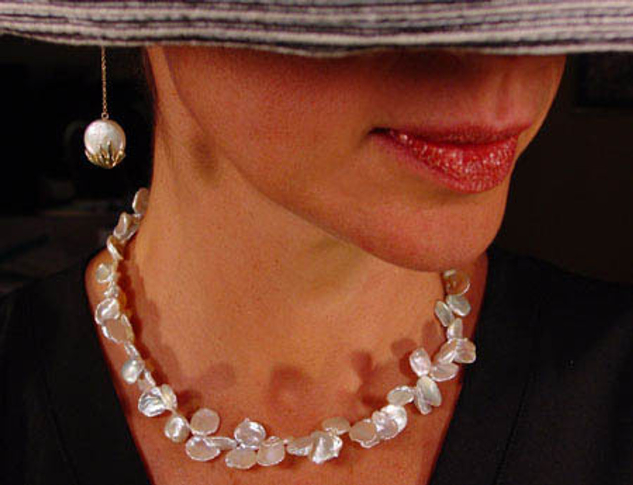 Petal Pearl Necklace.