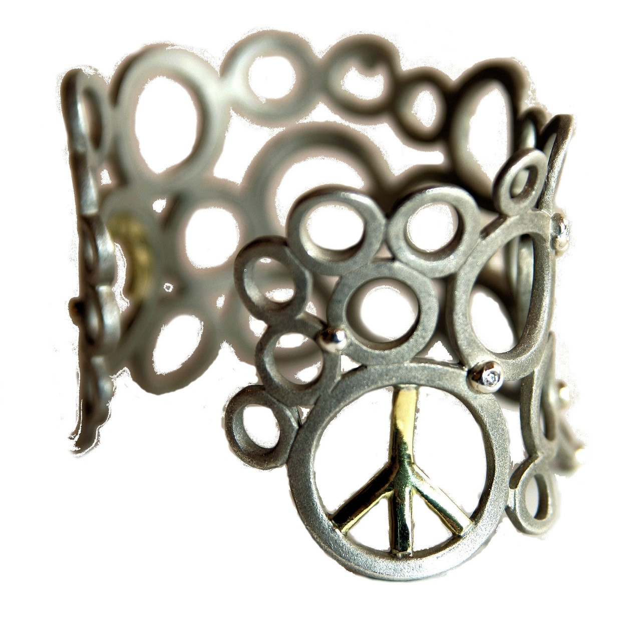 Peace To The World- cuff bracelet
