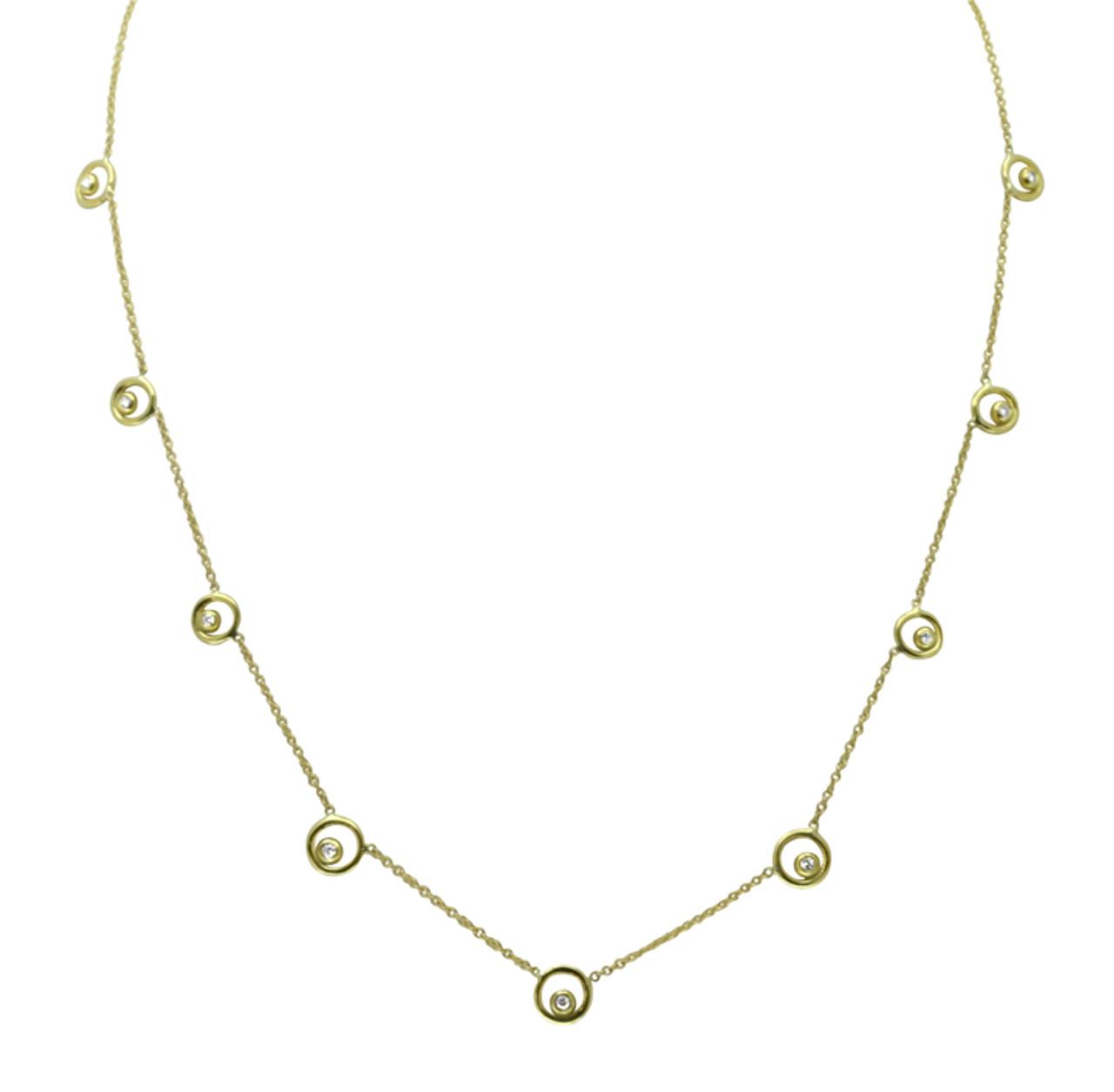Karma Chain- 18K Gold with Ripples of Diamonds