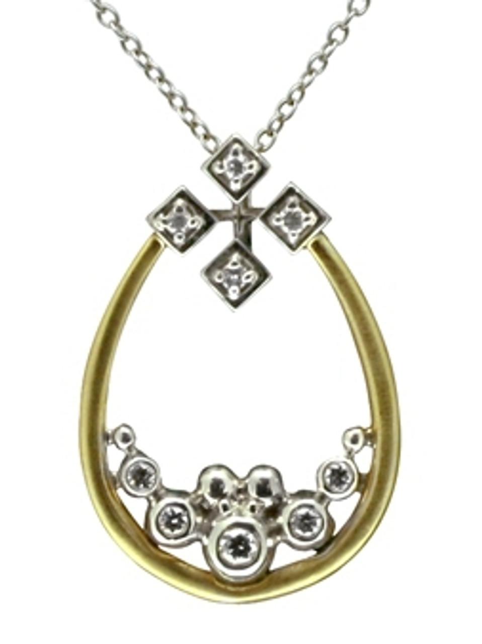 Pyramid Tears Necklace-18K
