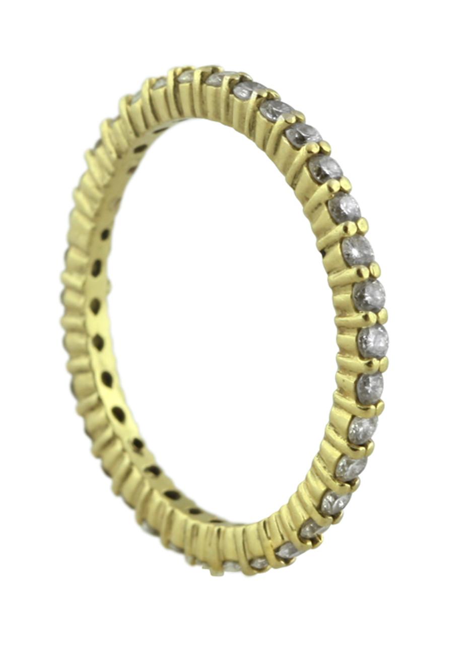 Stacking Rings-Eternity-White diamonds-18K