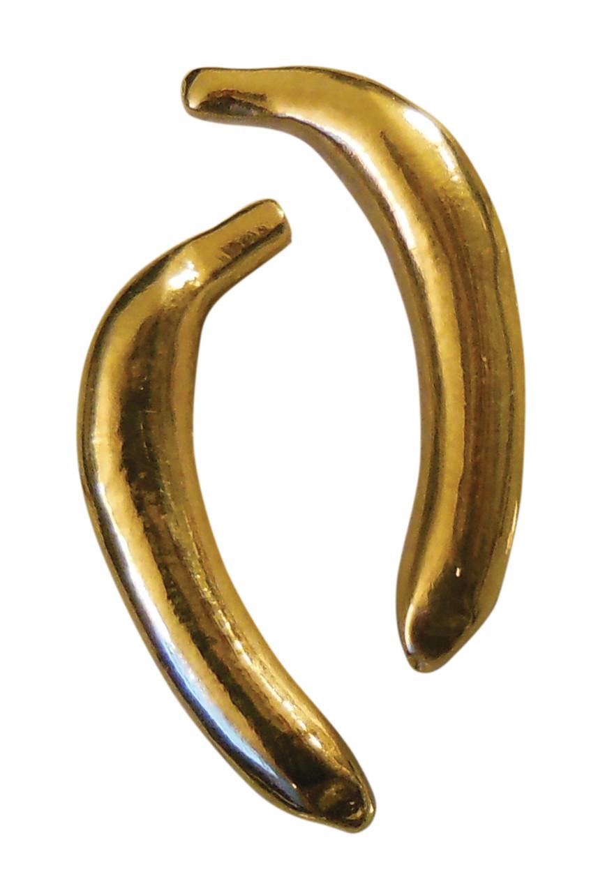 Drop the Banana- Banana stud earrings, Chimp Collection-14K gold