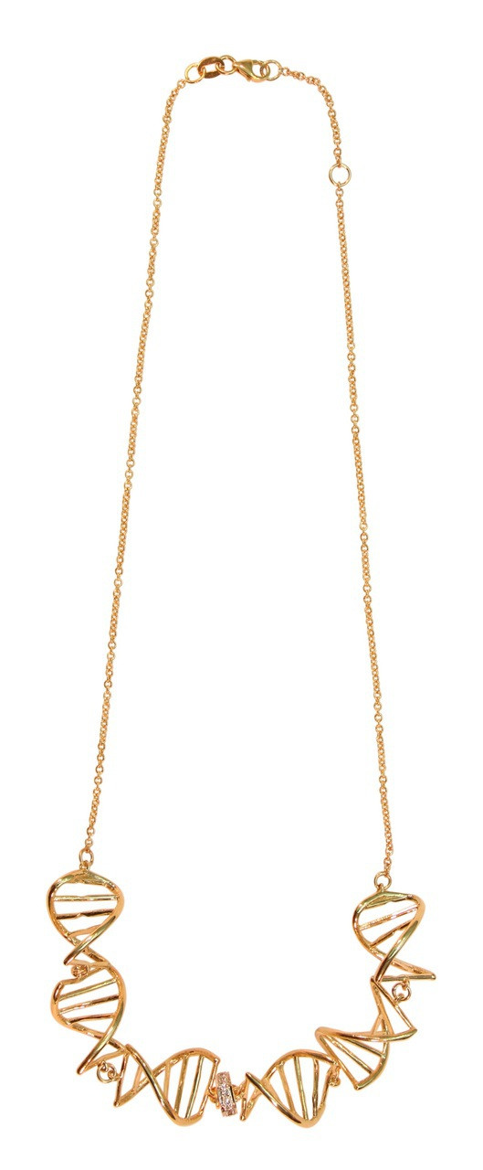 DNA Strand Chain Necklace-14K