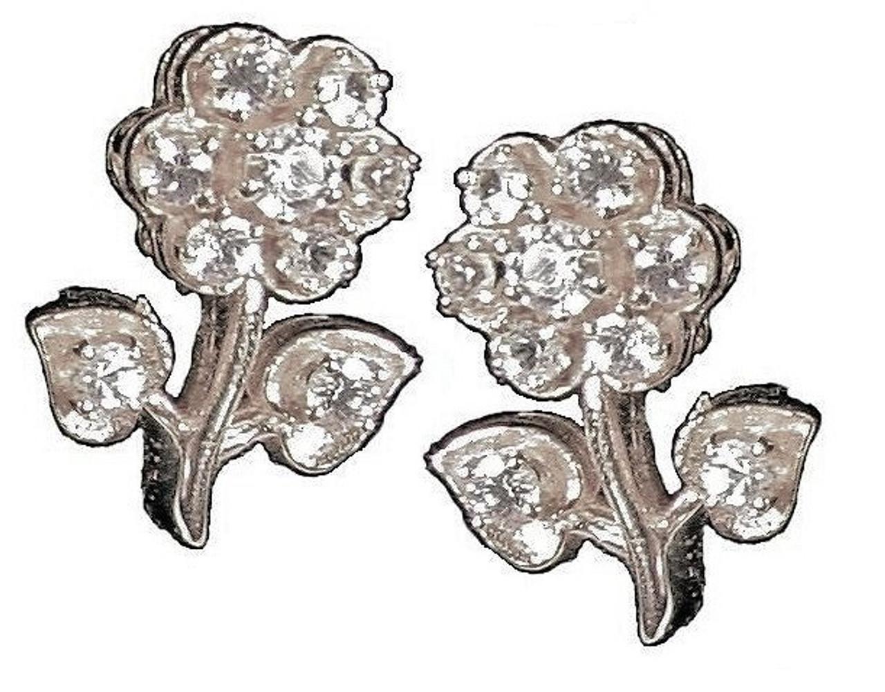 Stem Flower Earrings-Sterling Silver