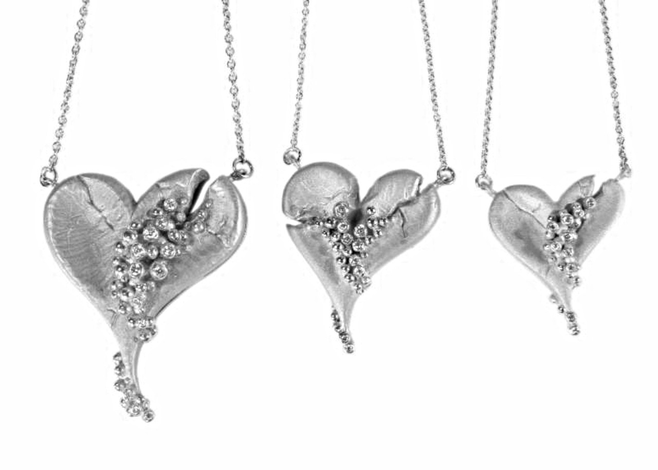 Hearts-Lucky Break Necklace-Small-Sterling & diamonds, 18K or rhodium plate