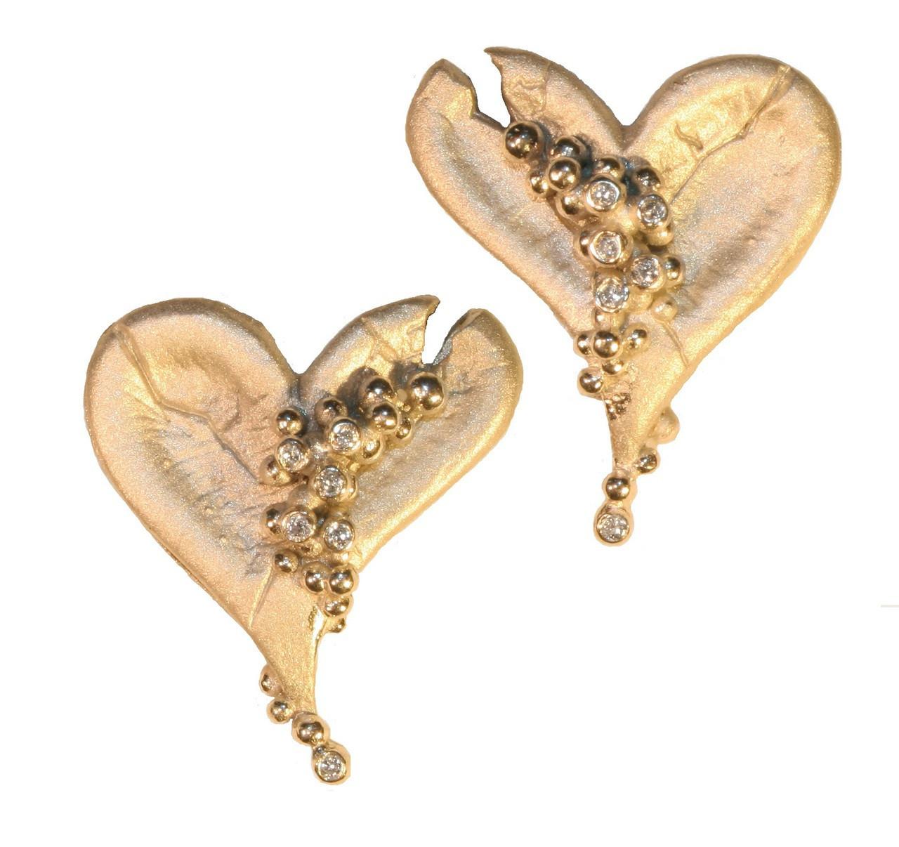 Hearts-Lucky Break Earrings-14K