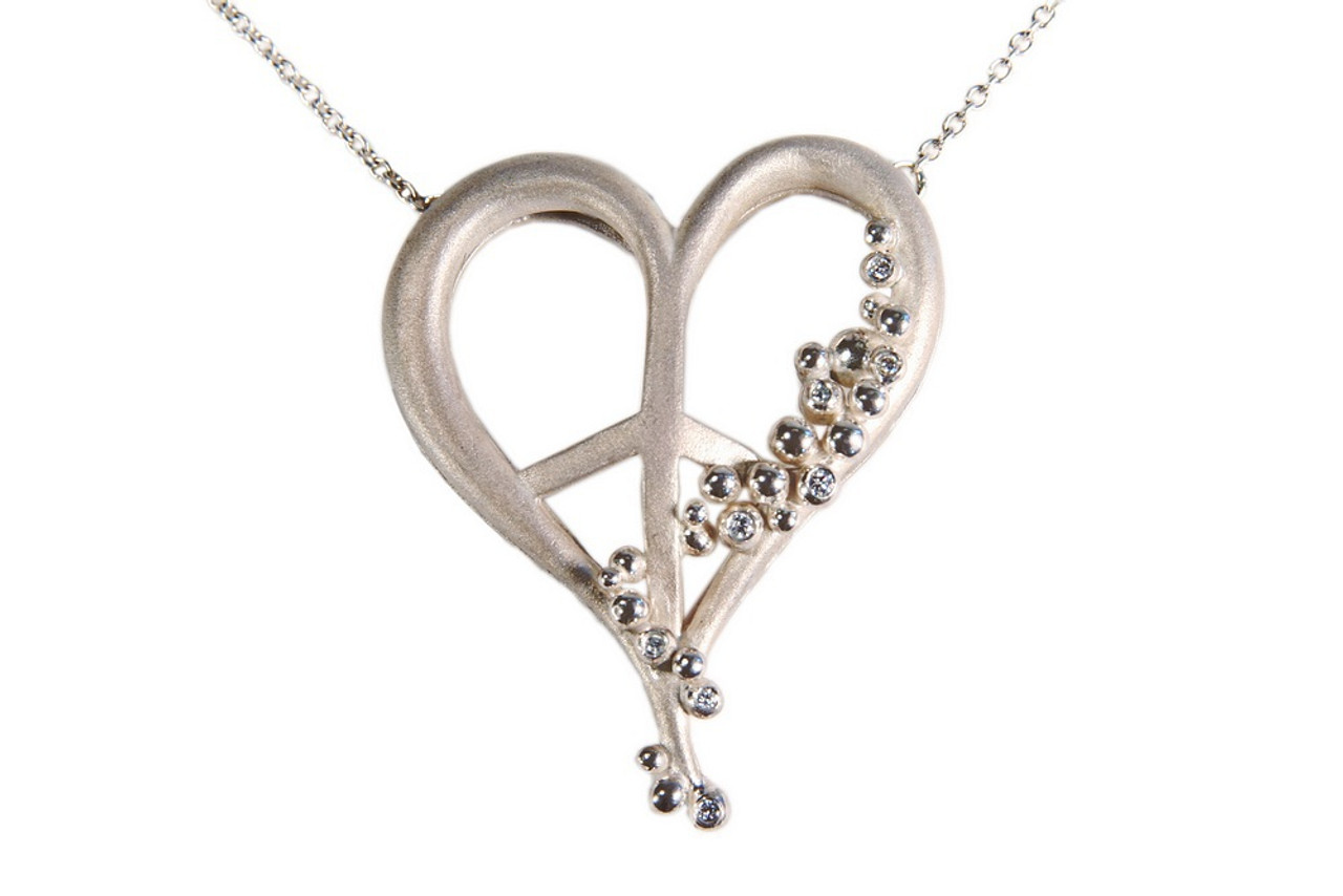 Peace of Heart necklace-large-Sterling with plate options