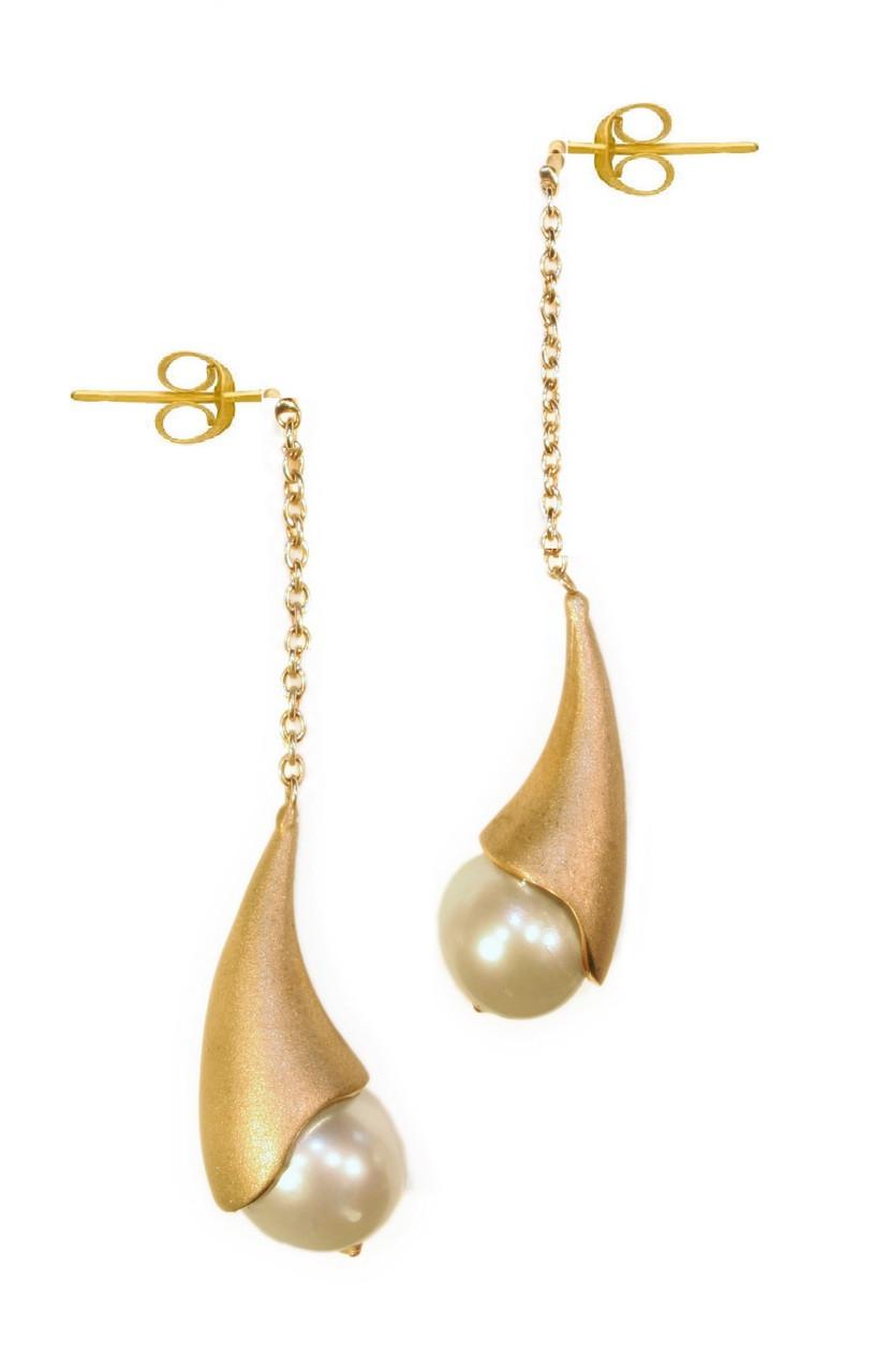 Pearl Drop Earrings-Cones
