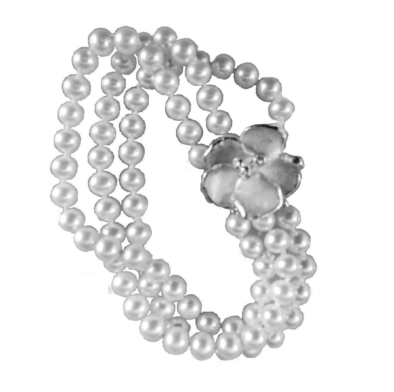 Metal petals- Pansy pearl enhancer-14K