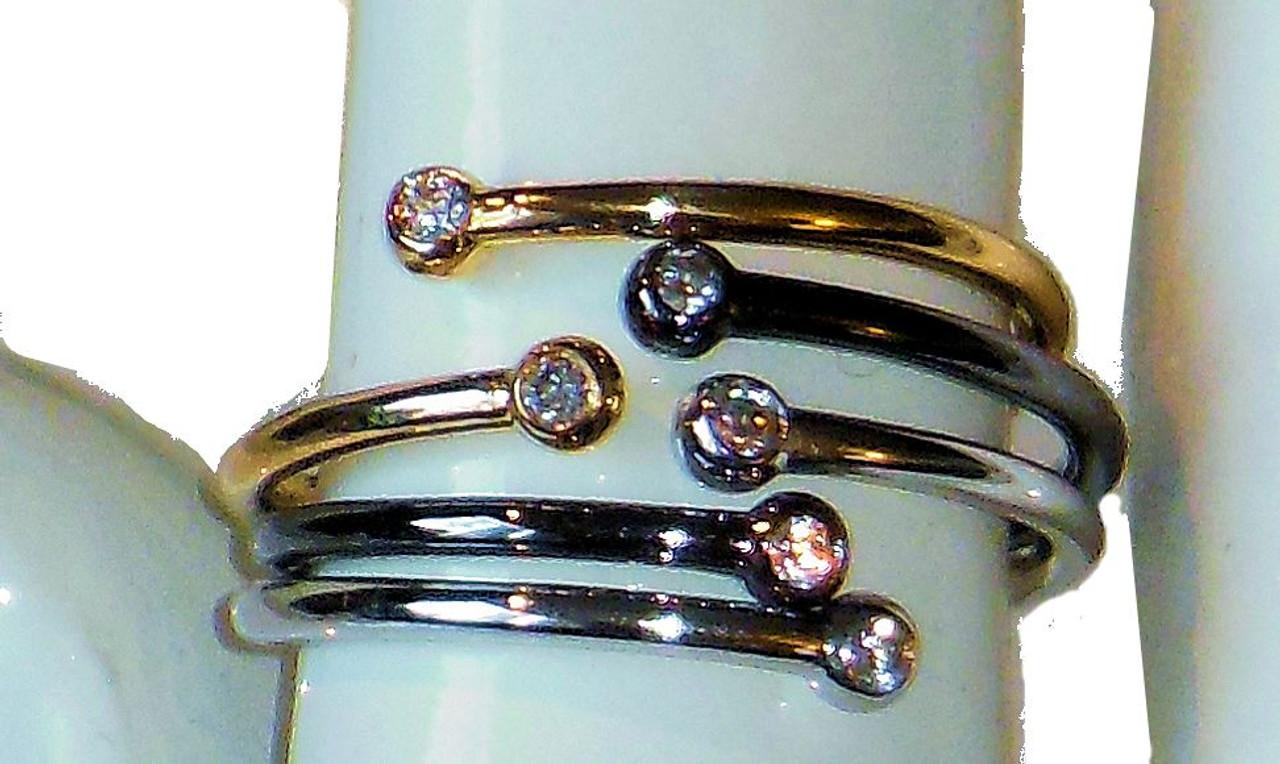 Diamond Dot Stacking Ring- 18K gold