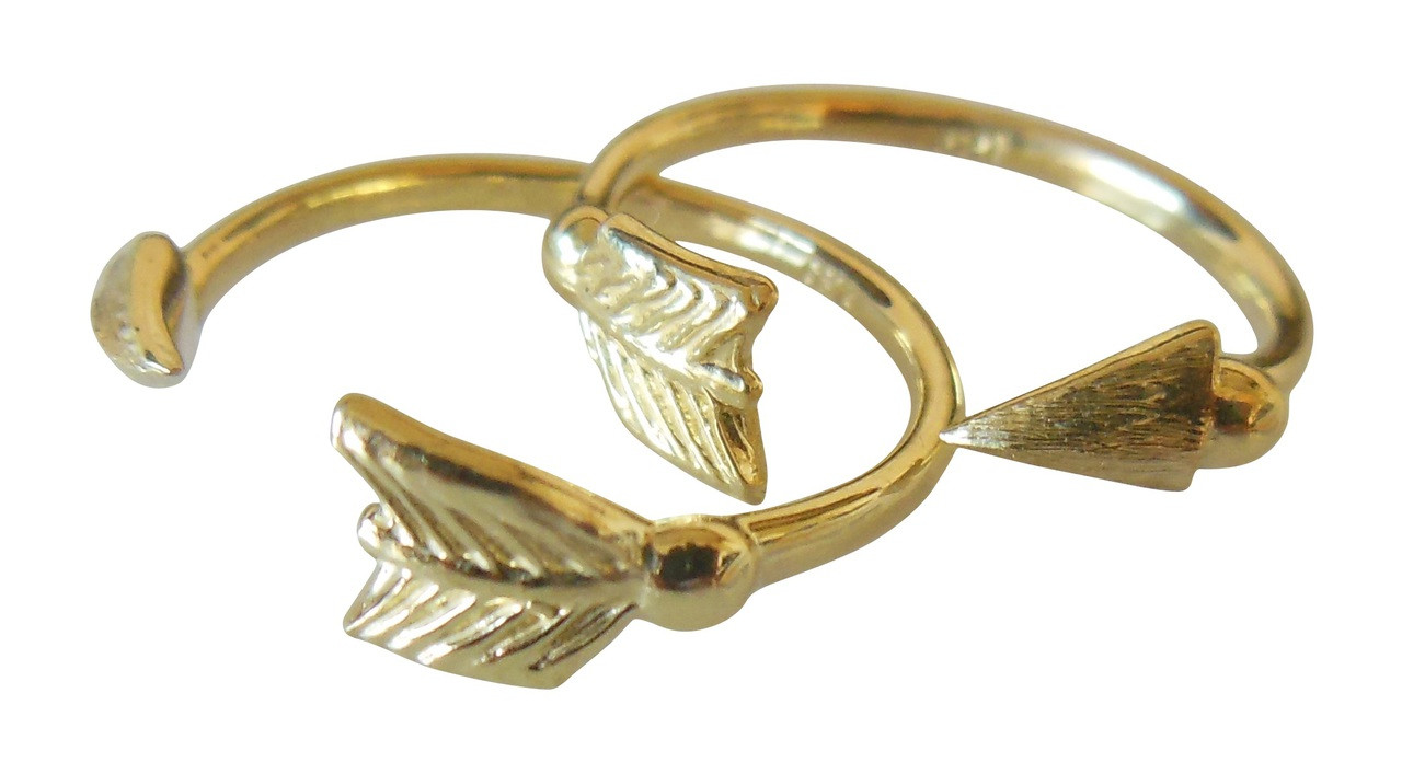 Arrow Stacking Rings - Yellow Gold- 18K