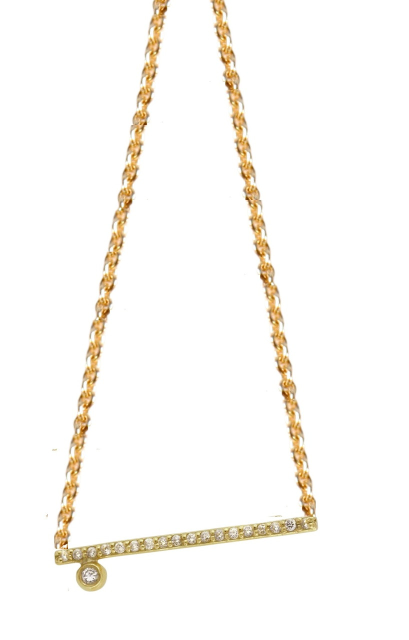Dot & Line- 18K & diamond Necklace