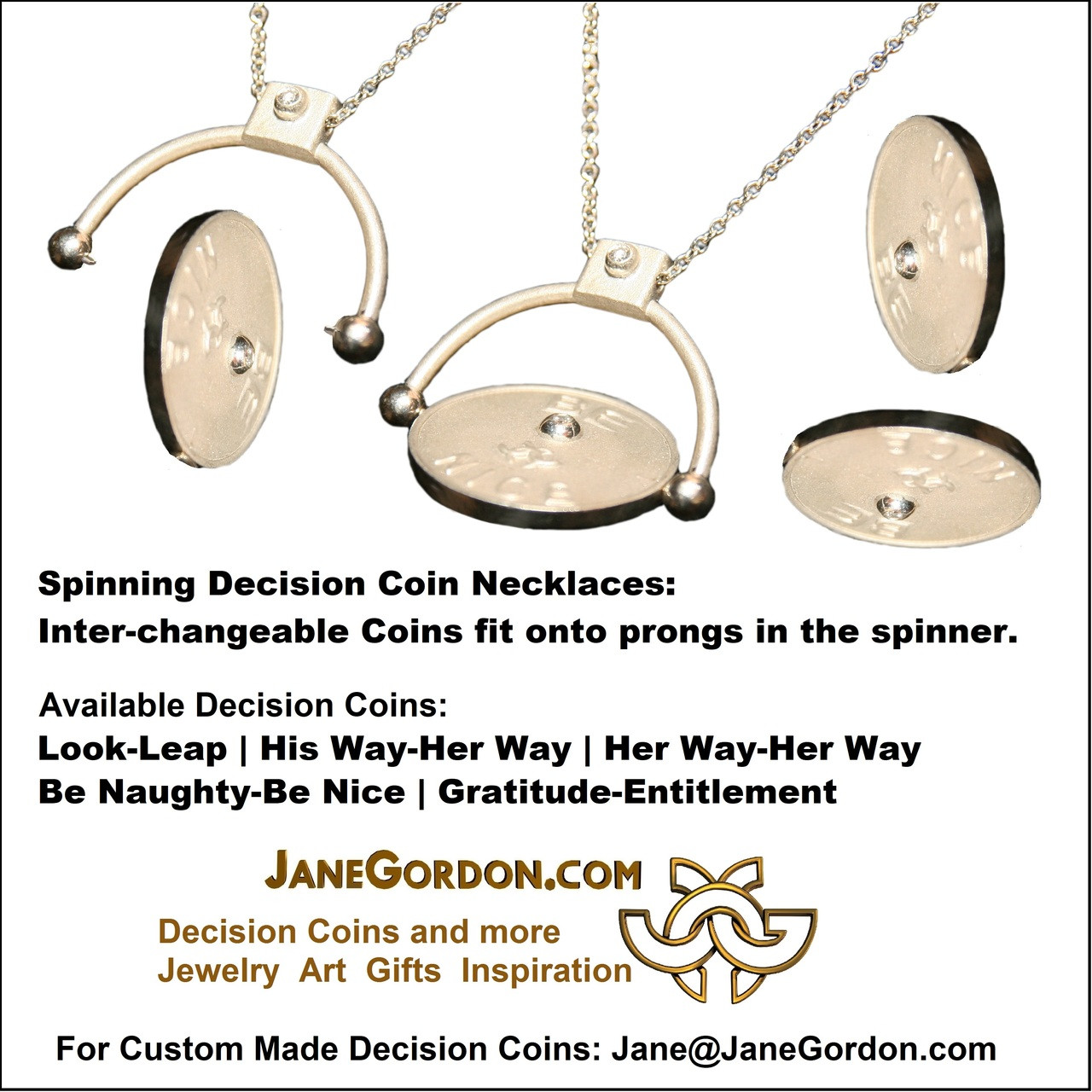 decision coin look leap sterling silver with diamonds