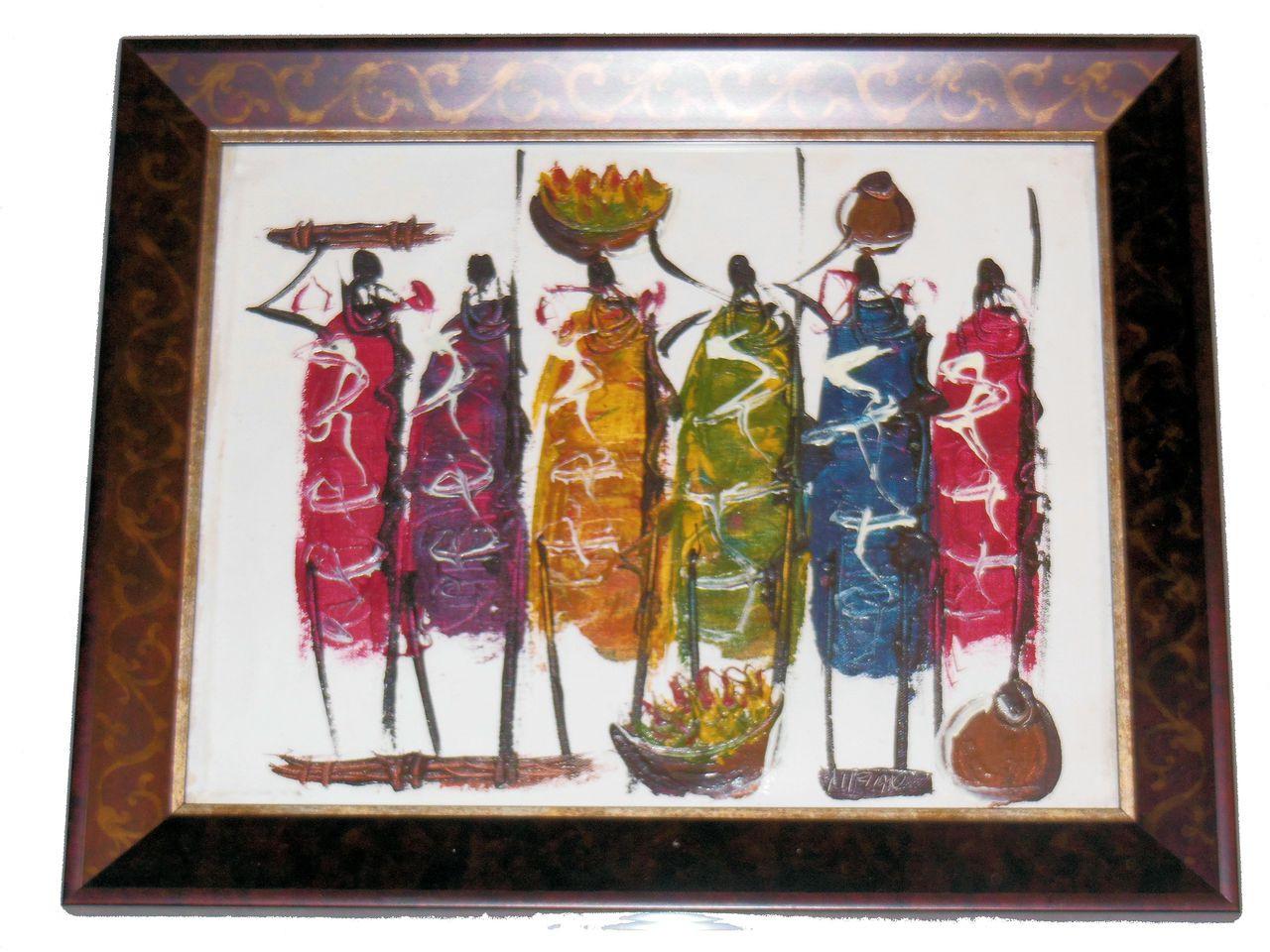 Maasai Warriors from Kenya- Paint on Canvass