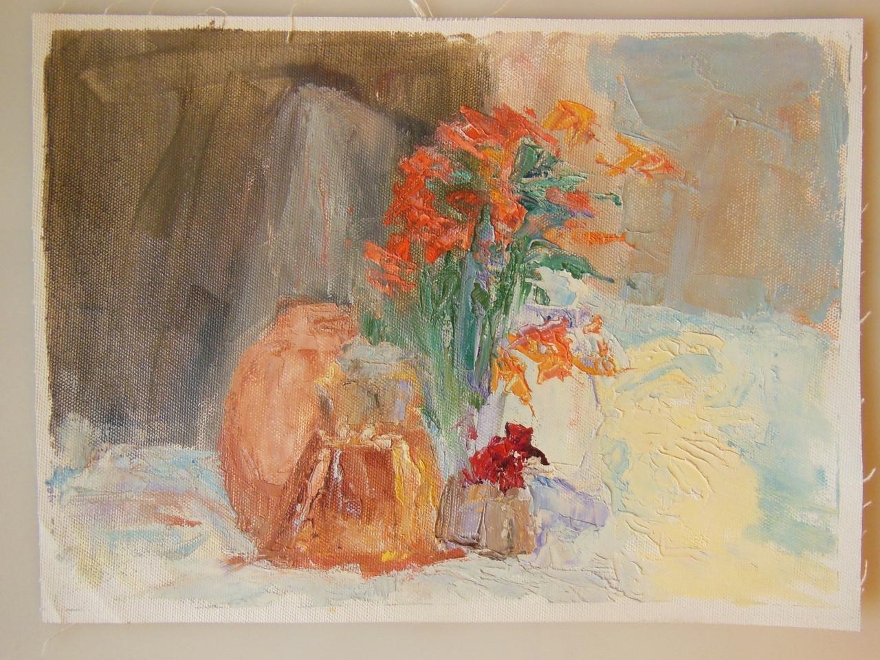 Tamara S Gordon. Still Life.  Oil on Canvas Paper.  #6
