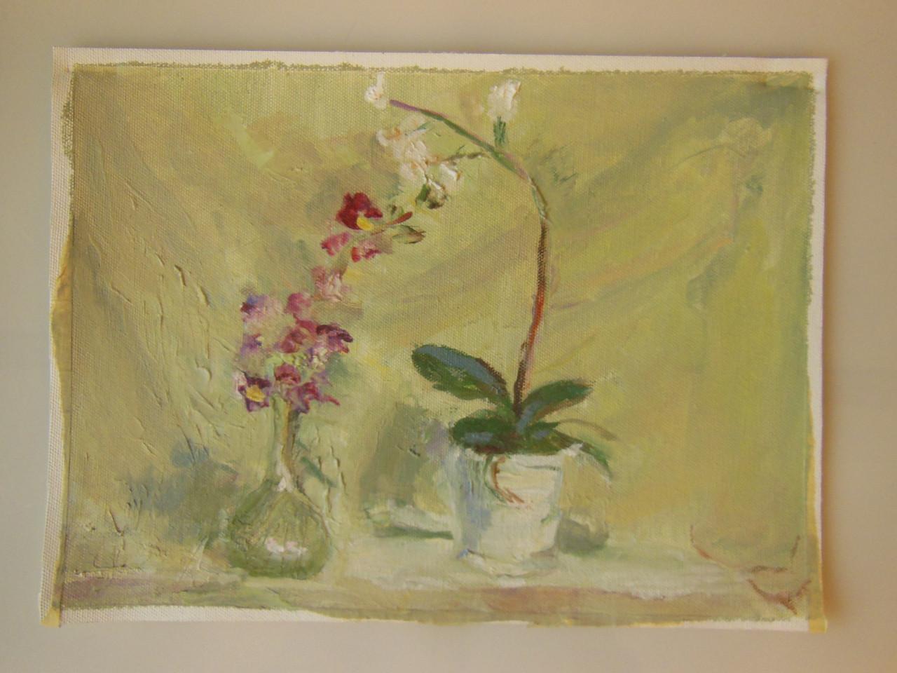 Tamara S Gordon. Still Life.  Oil on Canvas Paper.  #8