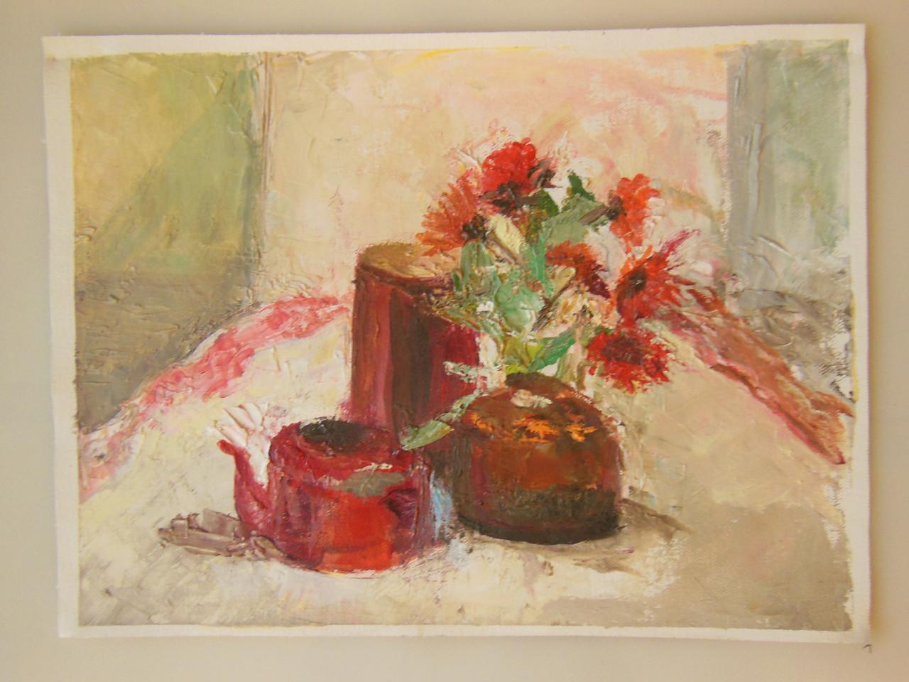 Tamara S Gordon. Still Life.  Oil on Canvas Paper.  #9