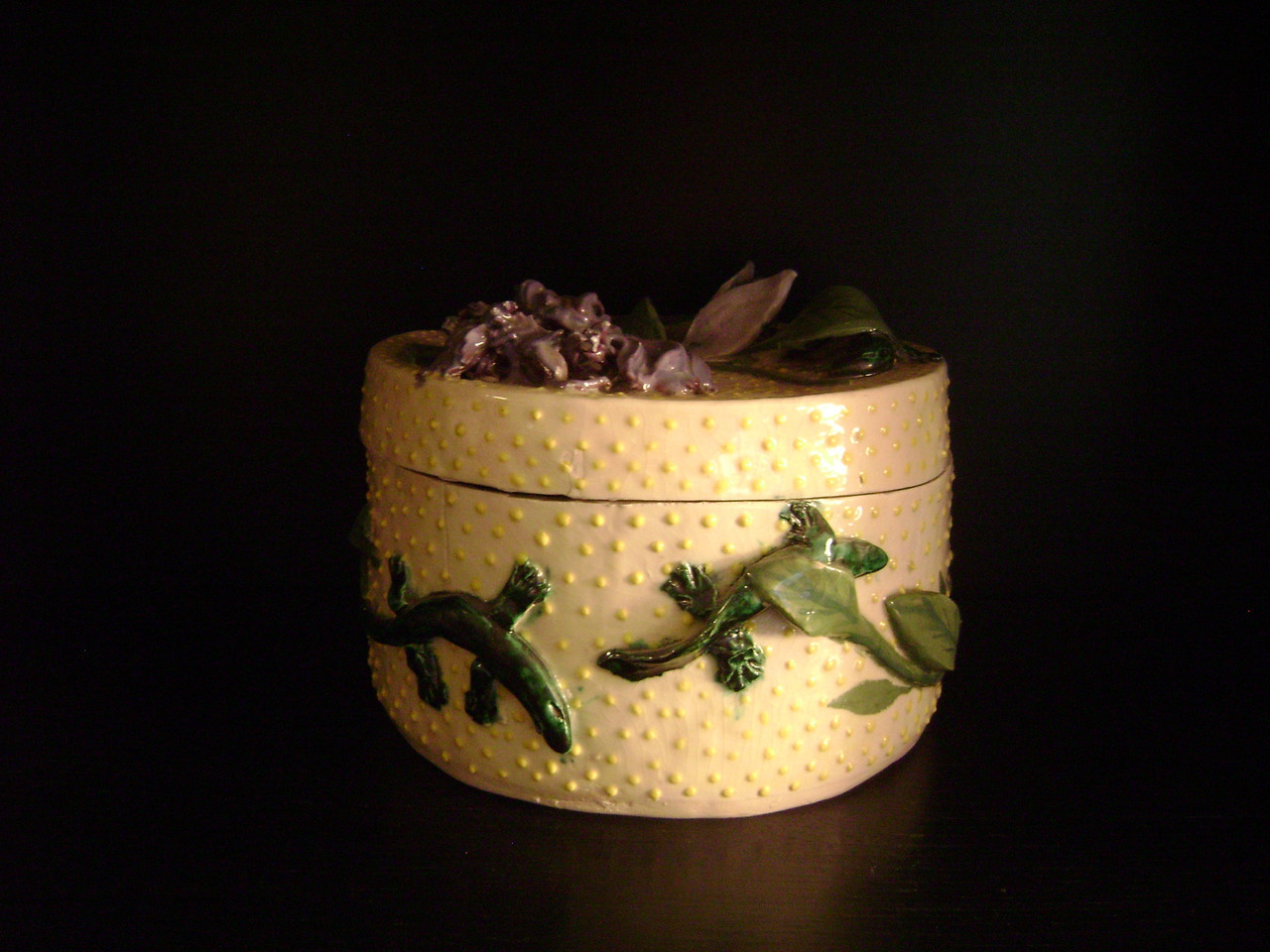 Tamara S Gordon- Lizard Pot # 2 with lid
