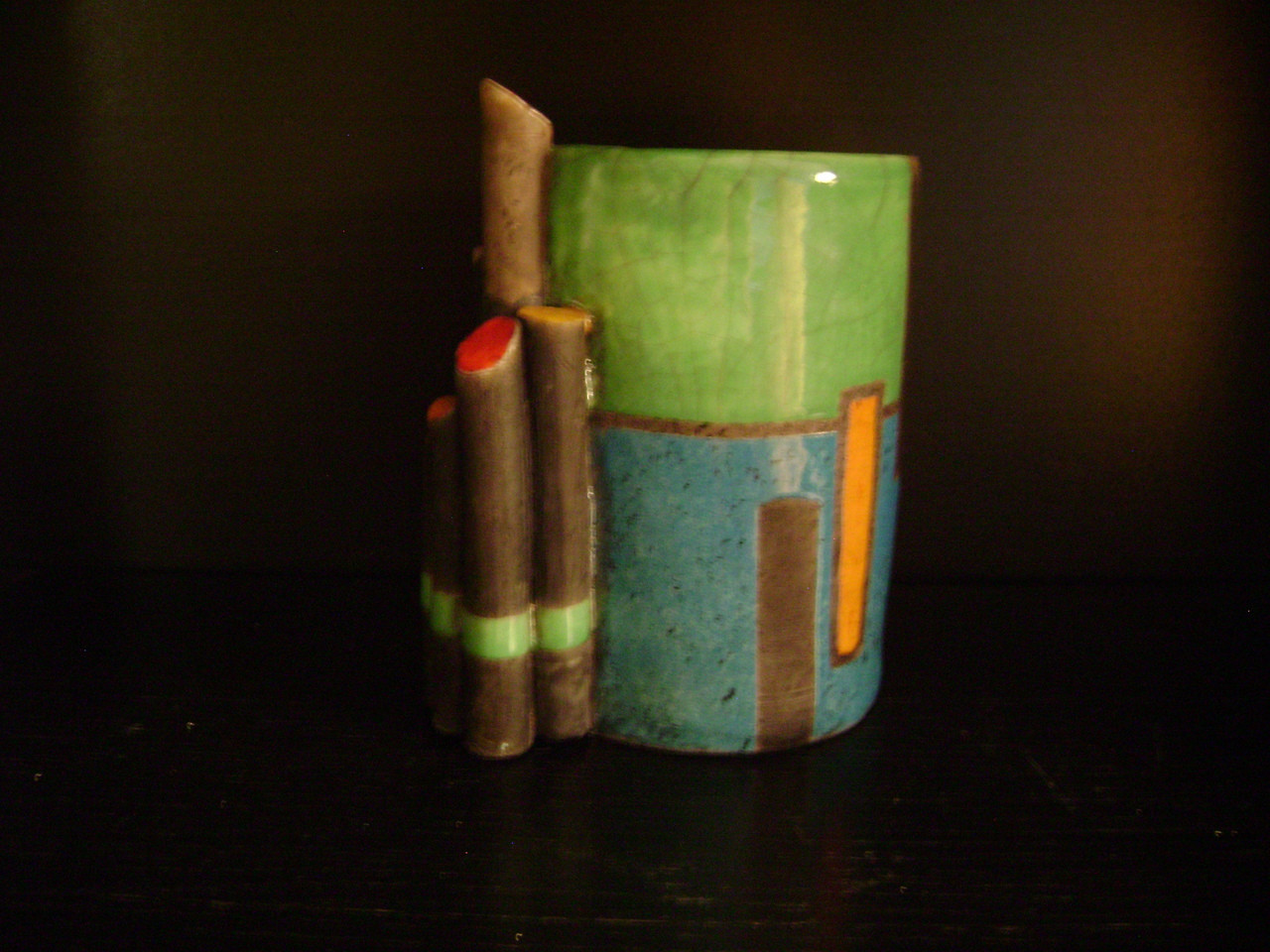 Tamara S Gordon Ceramics.  Dockside Pot