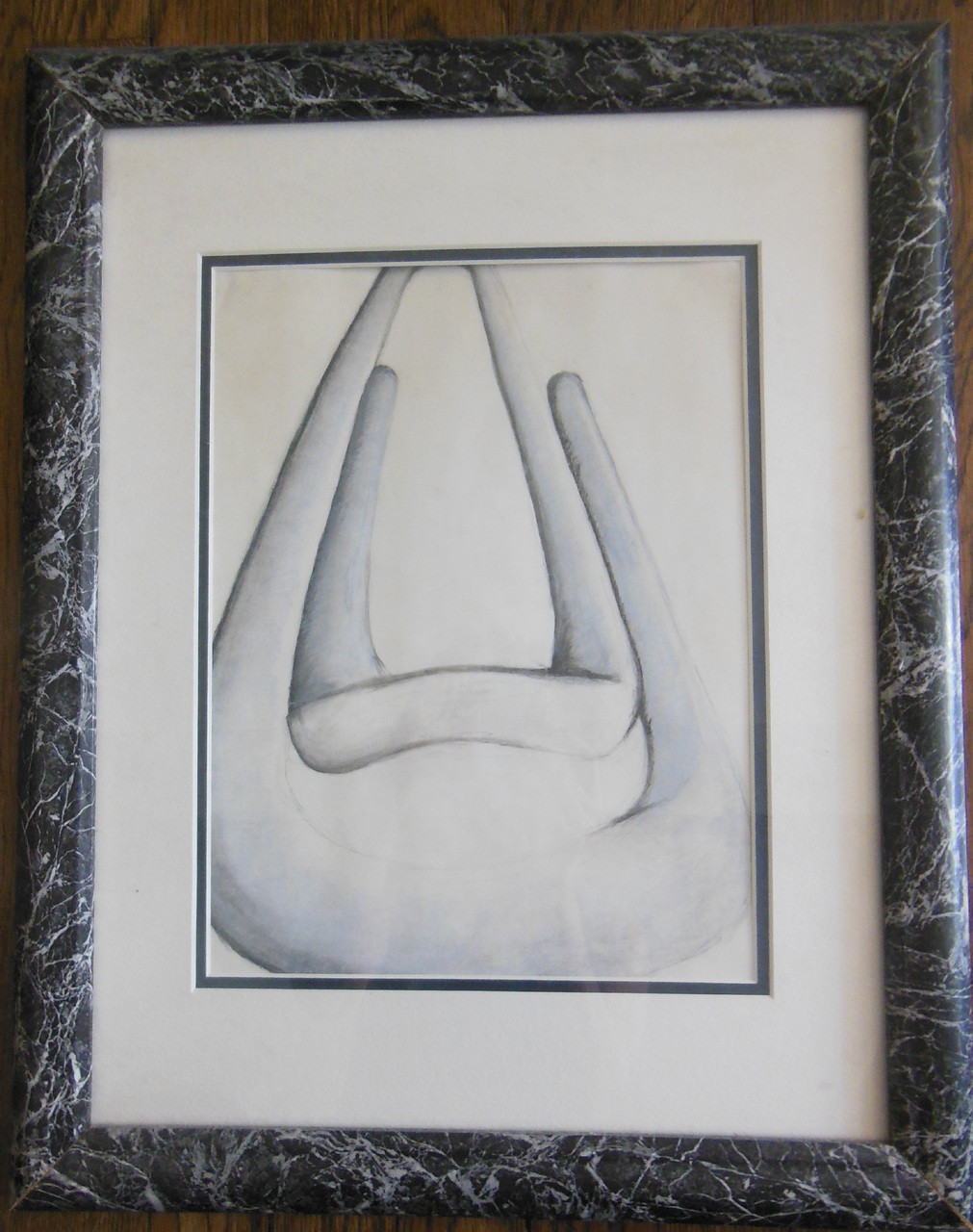 Paperclip- Pencil on Paper - Framed