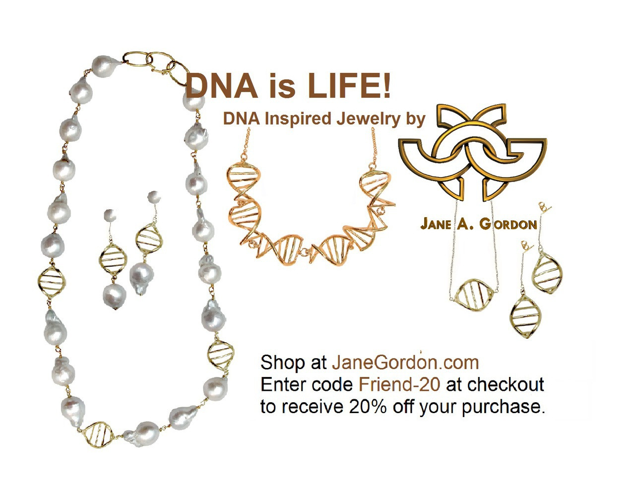 DNA Strand Necklace- DNA Linked chain- 18K