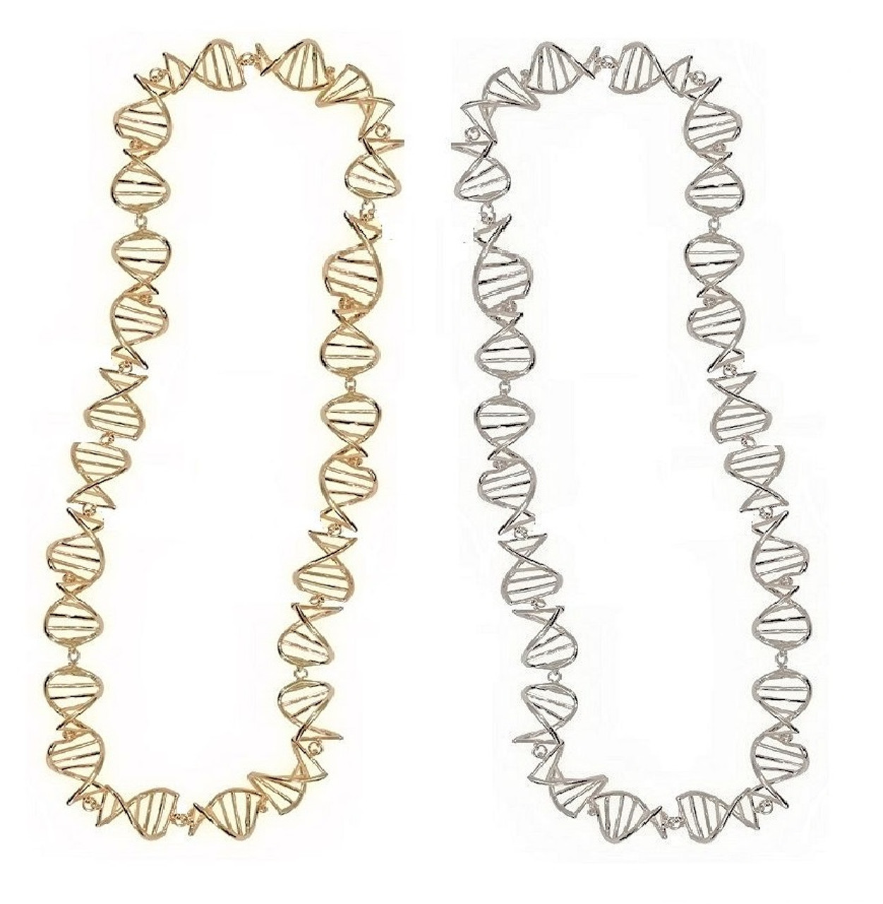 DNA Strand Necklace-Sterling with plate options