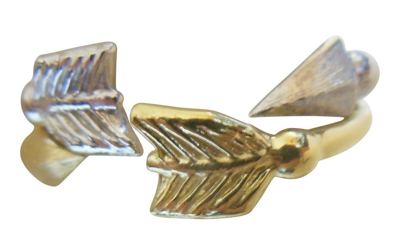 Arrow Stacking Rings - White Gold-18K