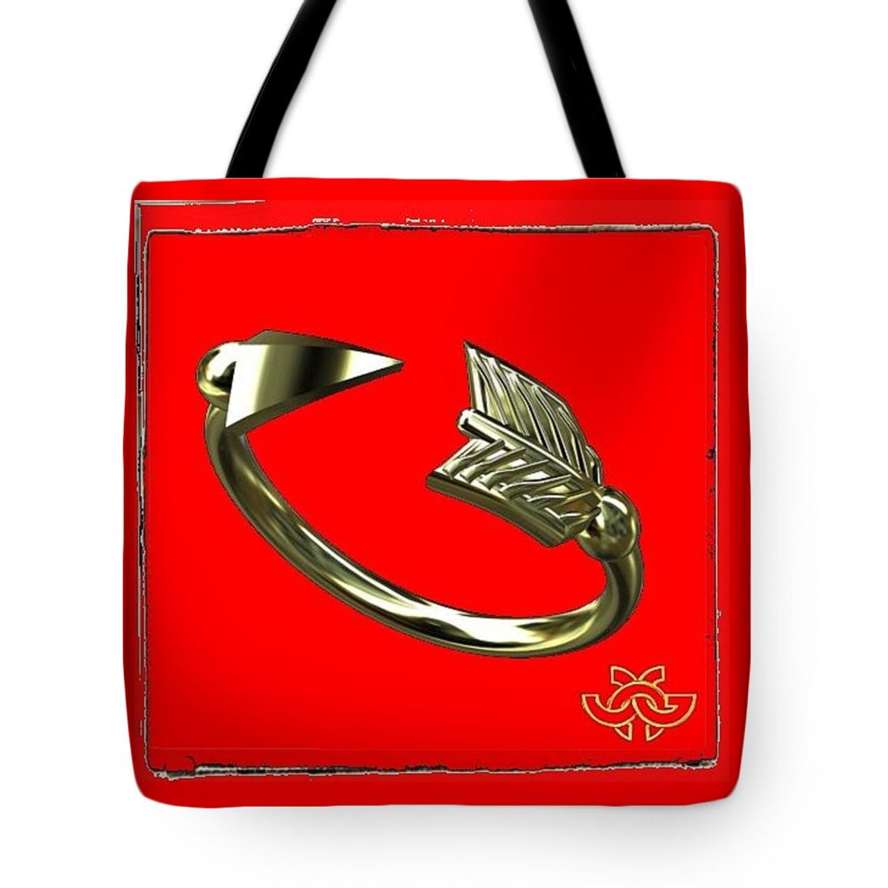 Arrow Rings. Art meets fashion in artful tote bags