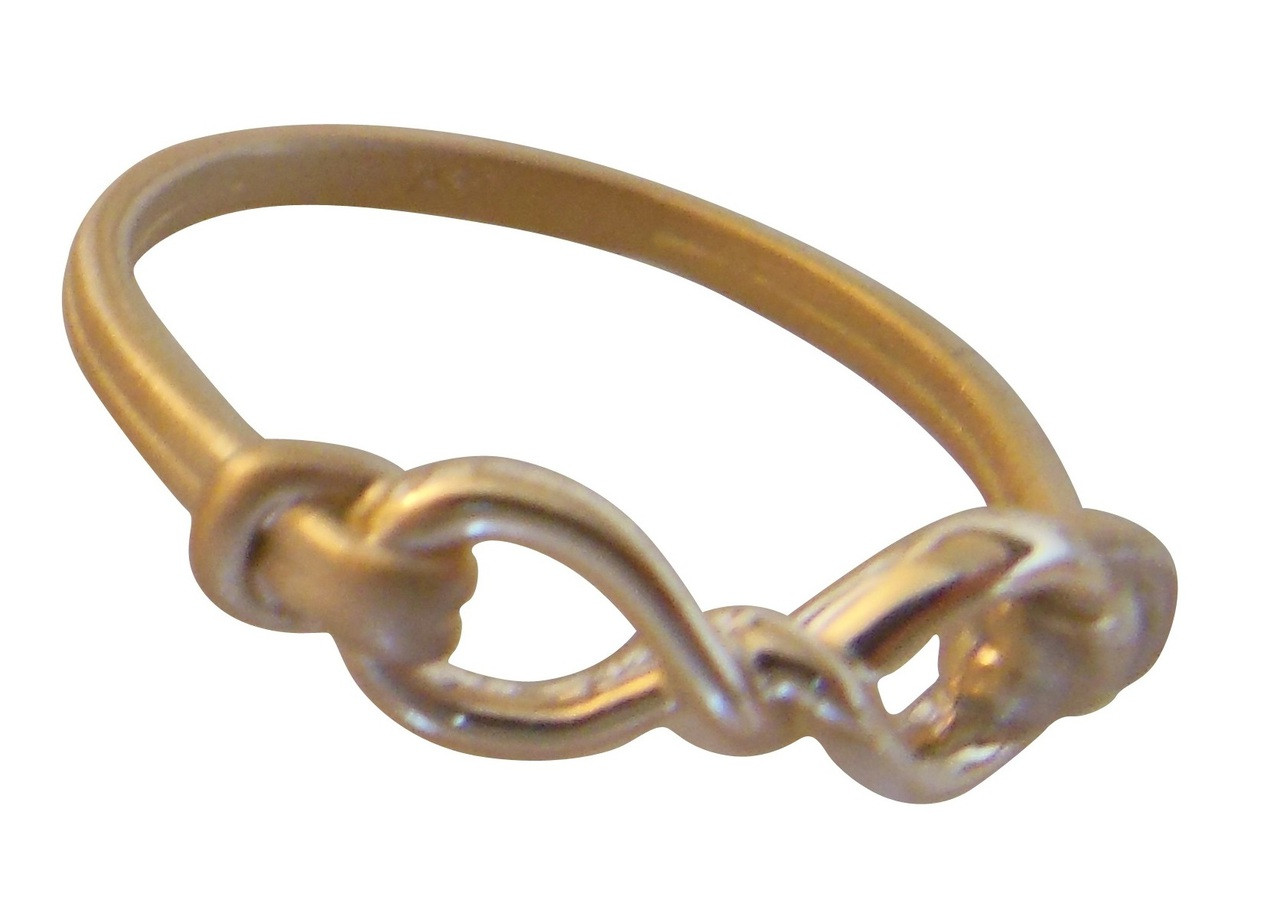 Infinity Knot Ring- 18K Gold. Tied up in infinity possibility.