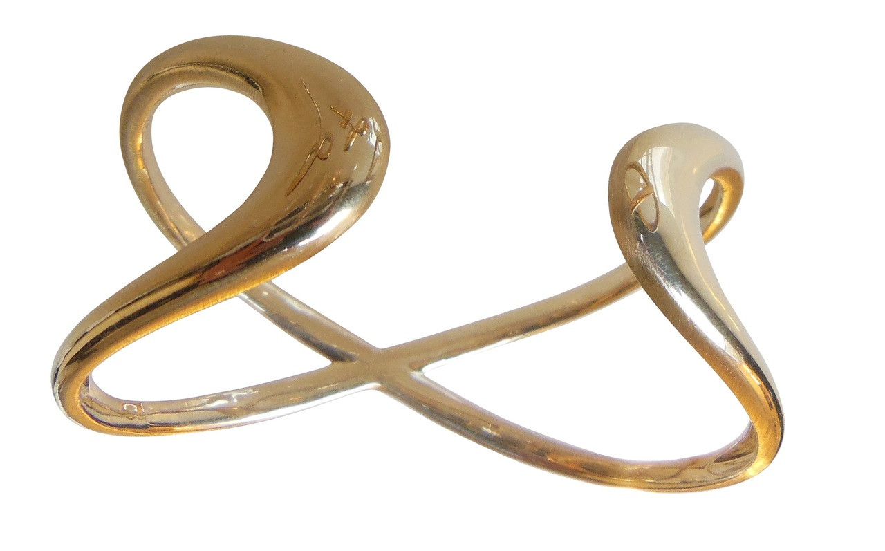 Infinity Cuff Bracelet- 18K gold. Celebrate the Infinite of Everything!