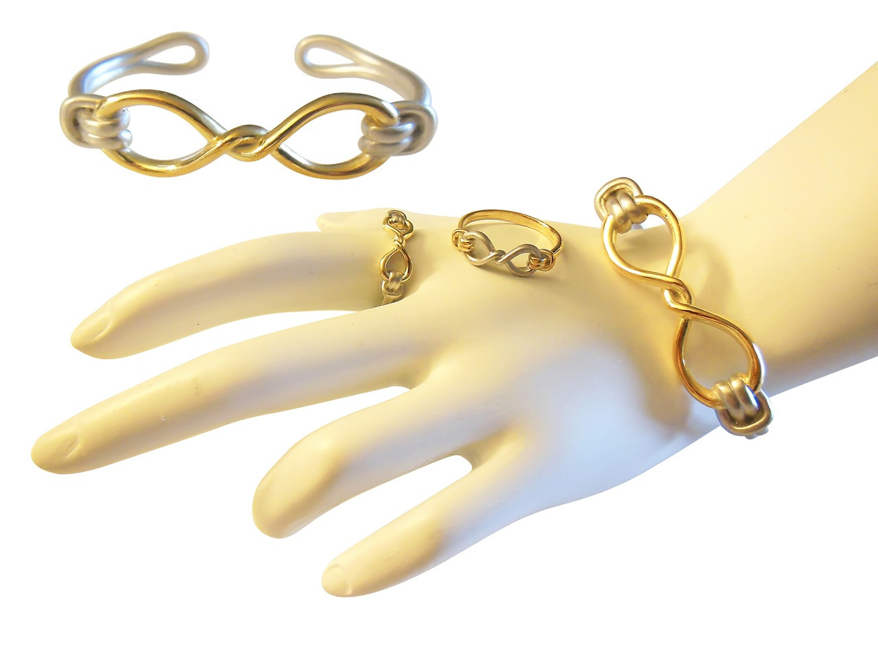 Infinity Knot Cuff Bracelet- 18K Gold. Tied to Infinite Possibilities.